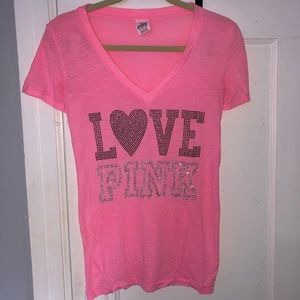 Pink tee shirt with studs